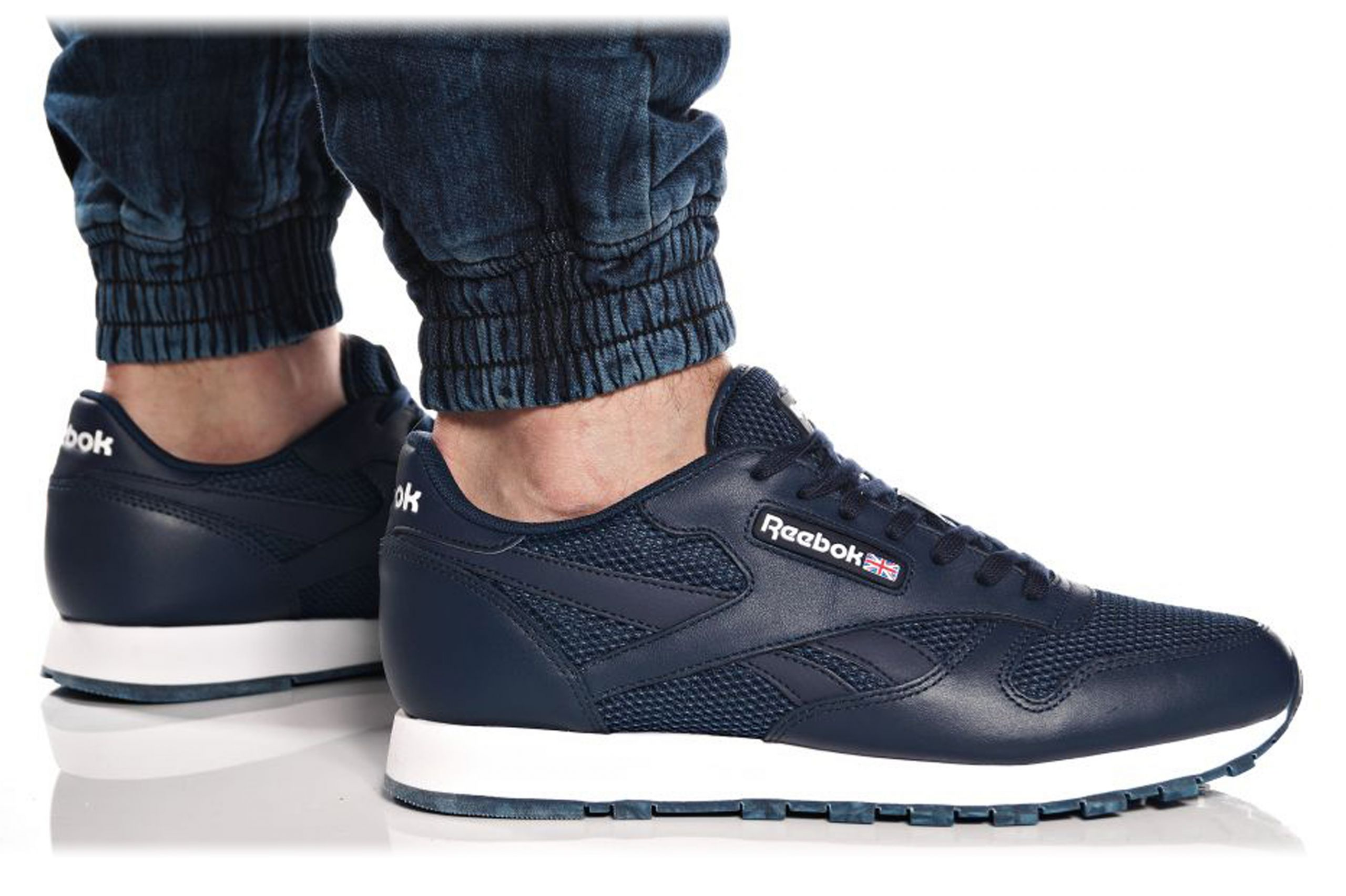 48cdc780 BUTY REEBOK CLASSIC CL LEATHER NM BD1651 GRANATOWE - 6788204112 ...