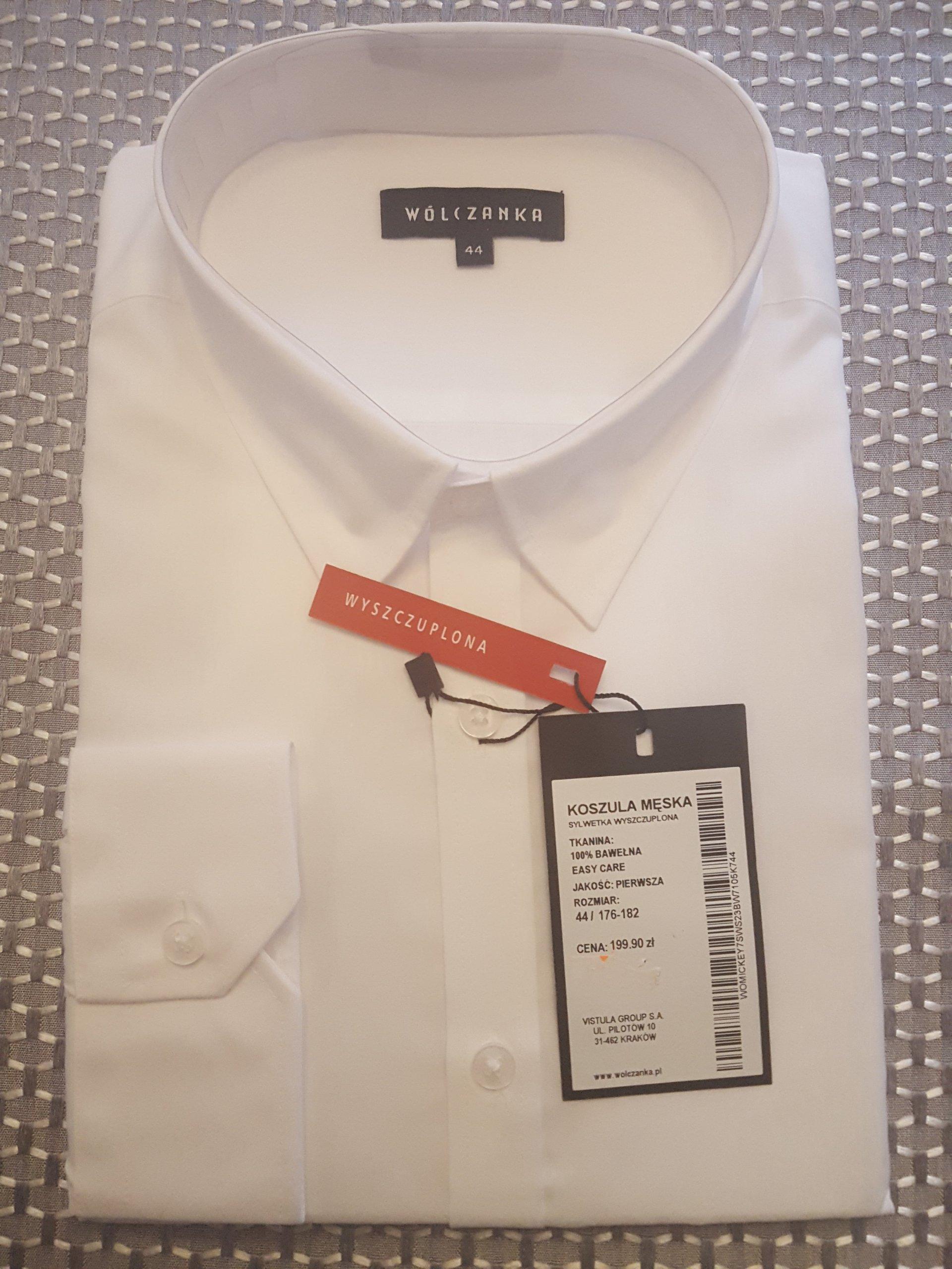 d3a116c04 Koszula męska biała Wólczanka 44 / 176 - 182 - 7324625045 ...