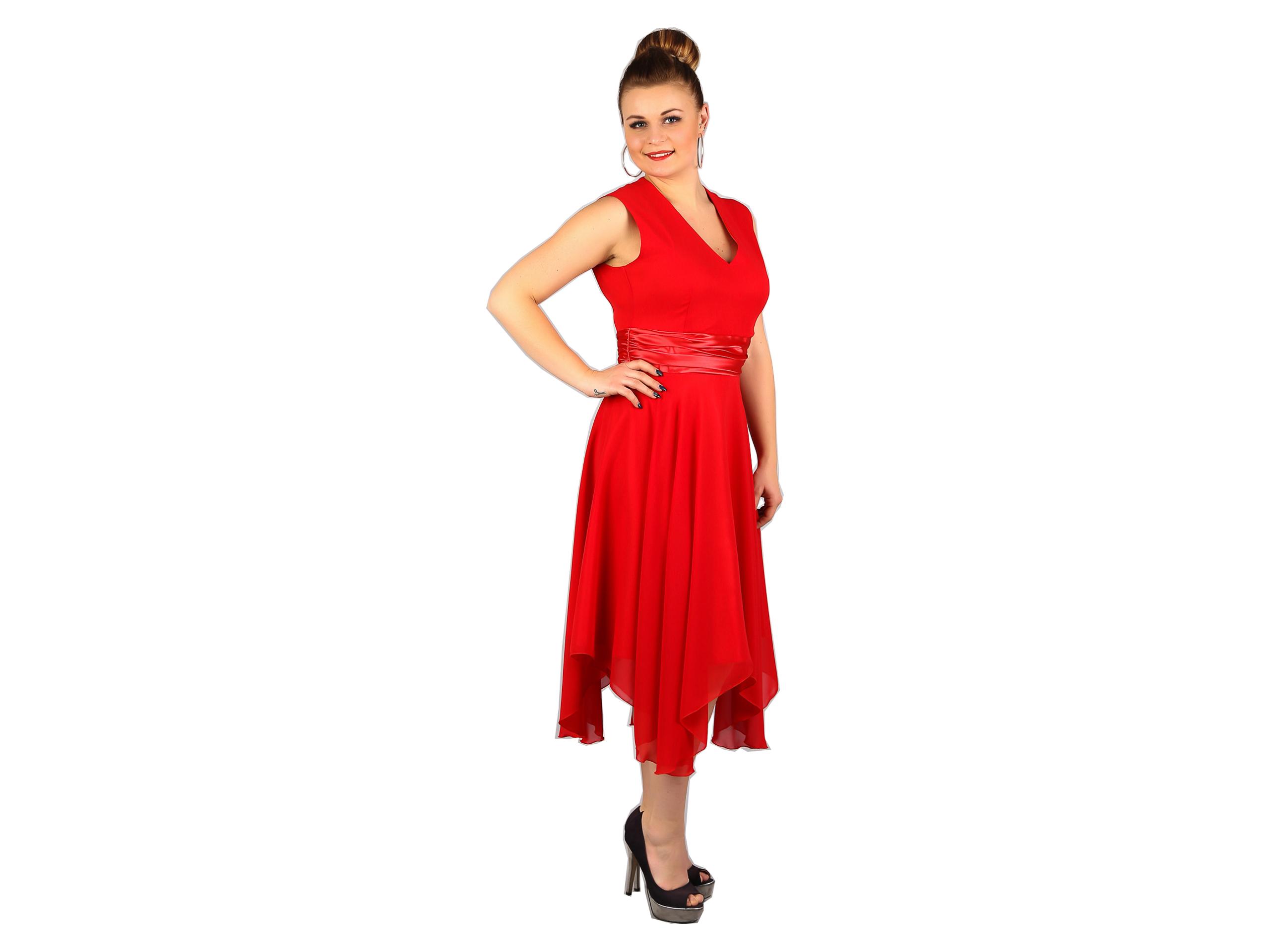 b6c9d7ee09 Sukienka rozkloszowana sukienki wesele ślub 52 - 7116418988 ...