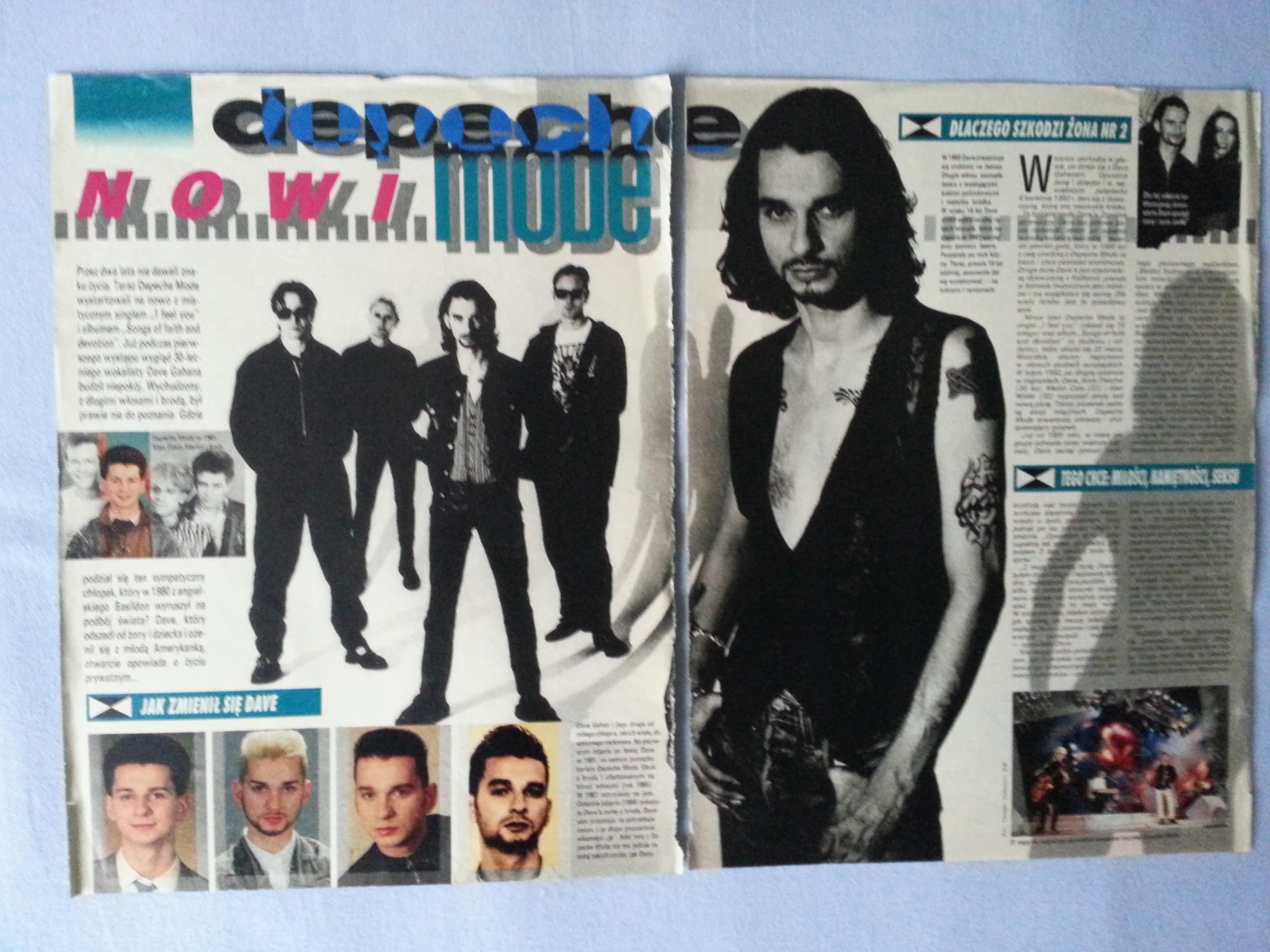 af44967b81d49 Depeche Mode strony z polskiej gazety format 2xA4 - 7642711642 ...