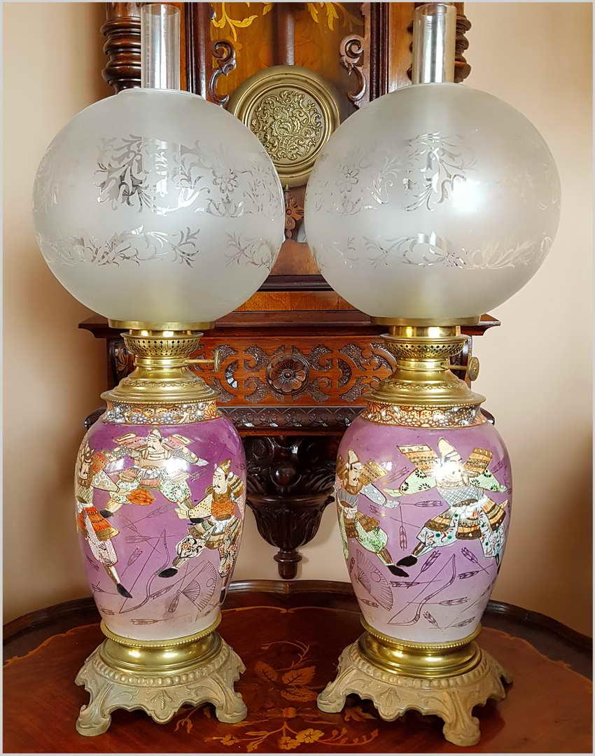 1630fb7f07a9f PARA LAMP NAFTOWYCH W STYLU ORIENTALNYM XIXw. - 6864271314 ...