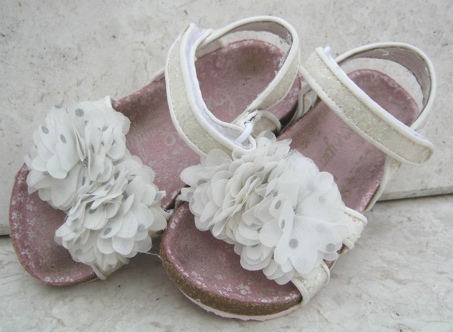 Reebok, r. 30,5 ŚLICZNE biało różowe kwiatuszki