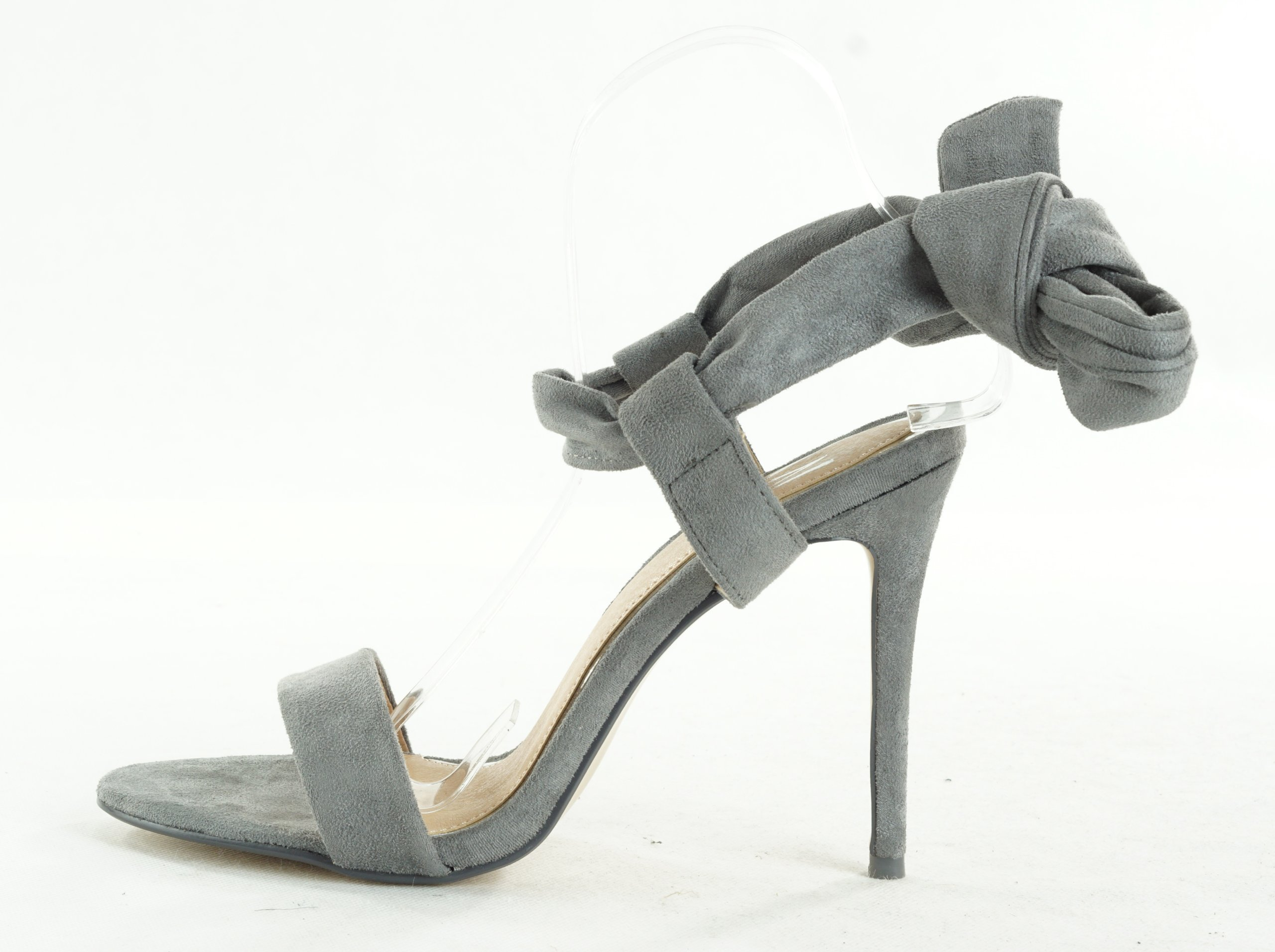 484c07e6 WALLIS szare sandały na szpilce wiązane R. 40 W7 3 - 7354027357 ...
