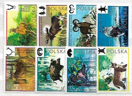POLSKA - ZWIERZĘTA ŁOWNE - SERIA NR.2100 - 2107**