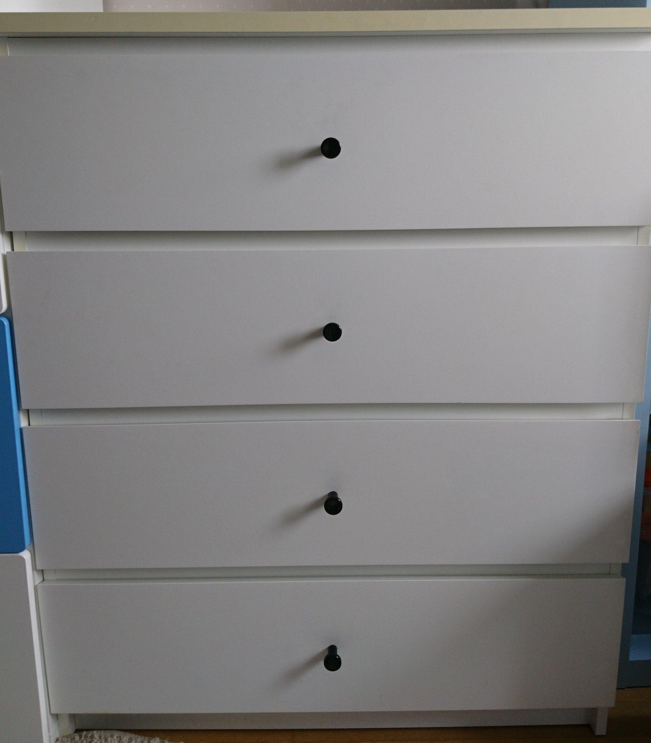 Ikea Malm Komoda 4 Szuflady Biały 80x100 Rączki