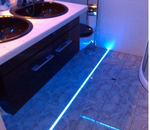 Oświetlenie Podłoga łazienka Led Rgb Kolor Pilot2m