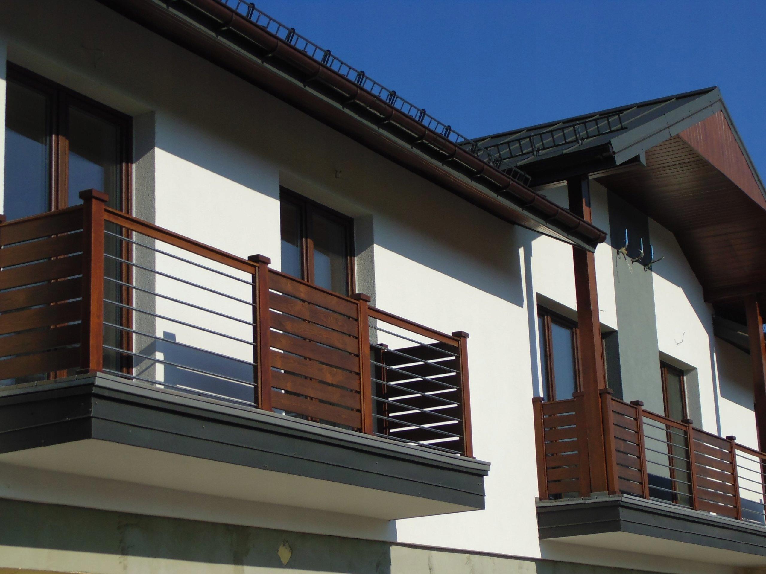 Balkon Balustrada Balkon Drewniany 7500257076