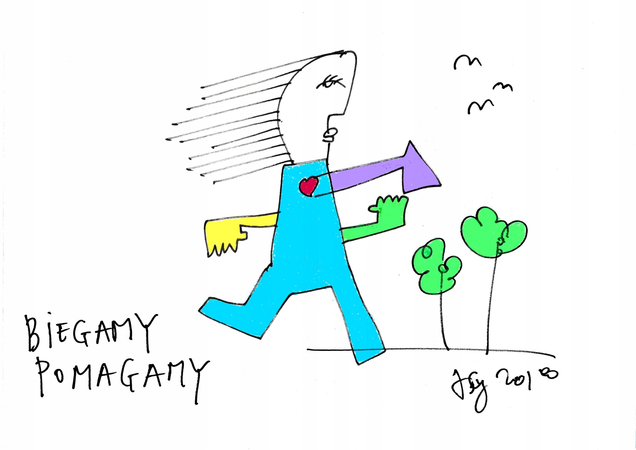 Grafika Biegamy-Pomagamy BUMWRO2018