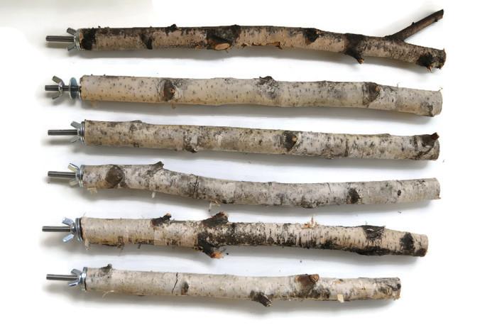 Żerdka brzozowa do klatki dł.29-36cm, gr.18-25mm