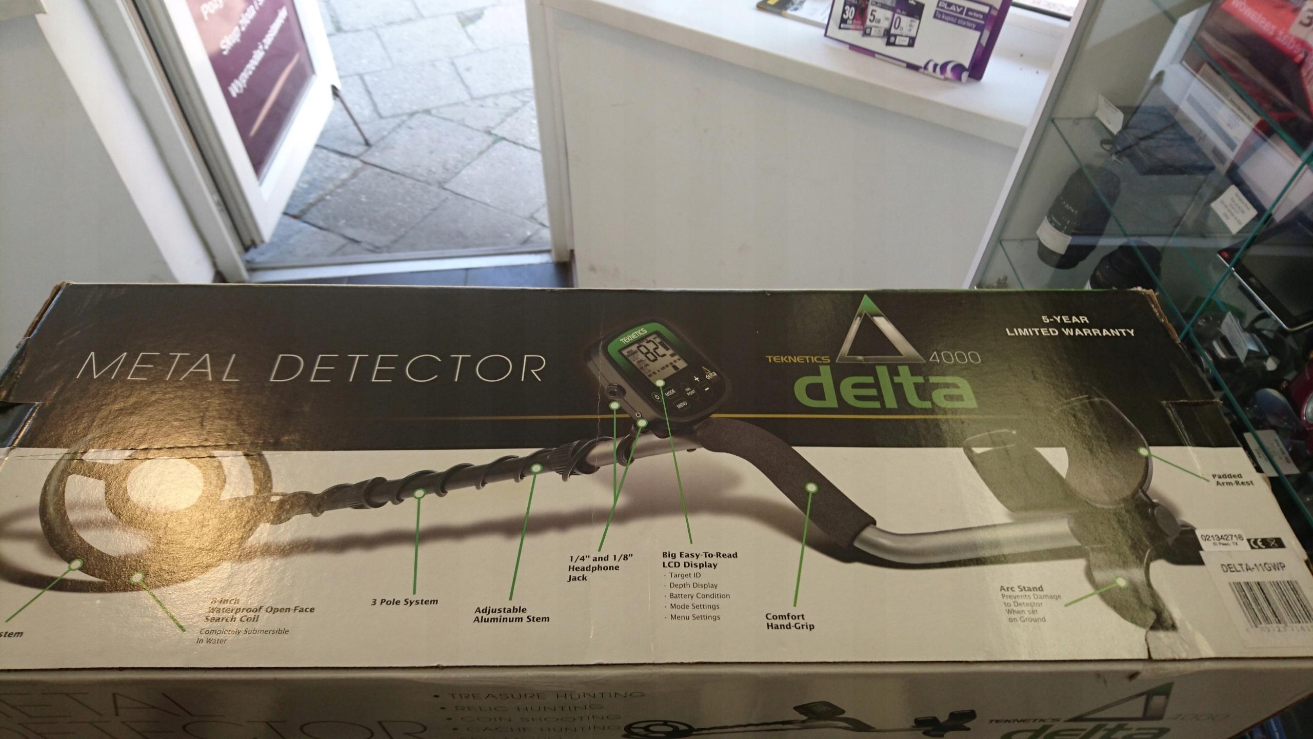 Wykrywacz metali Teknetics Delta 4000, BDB Stan