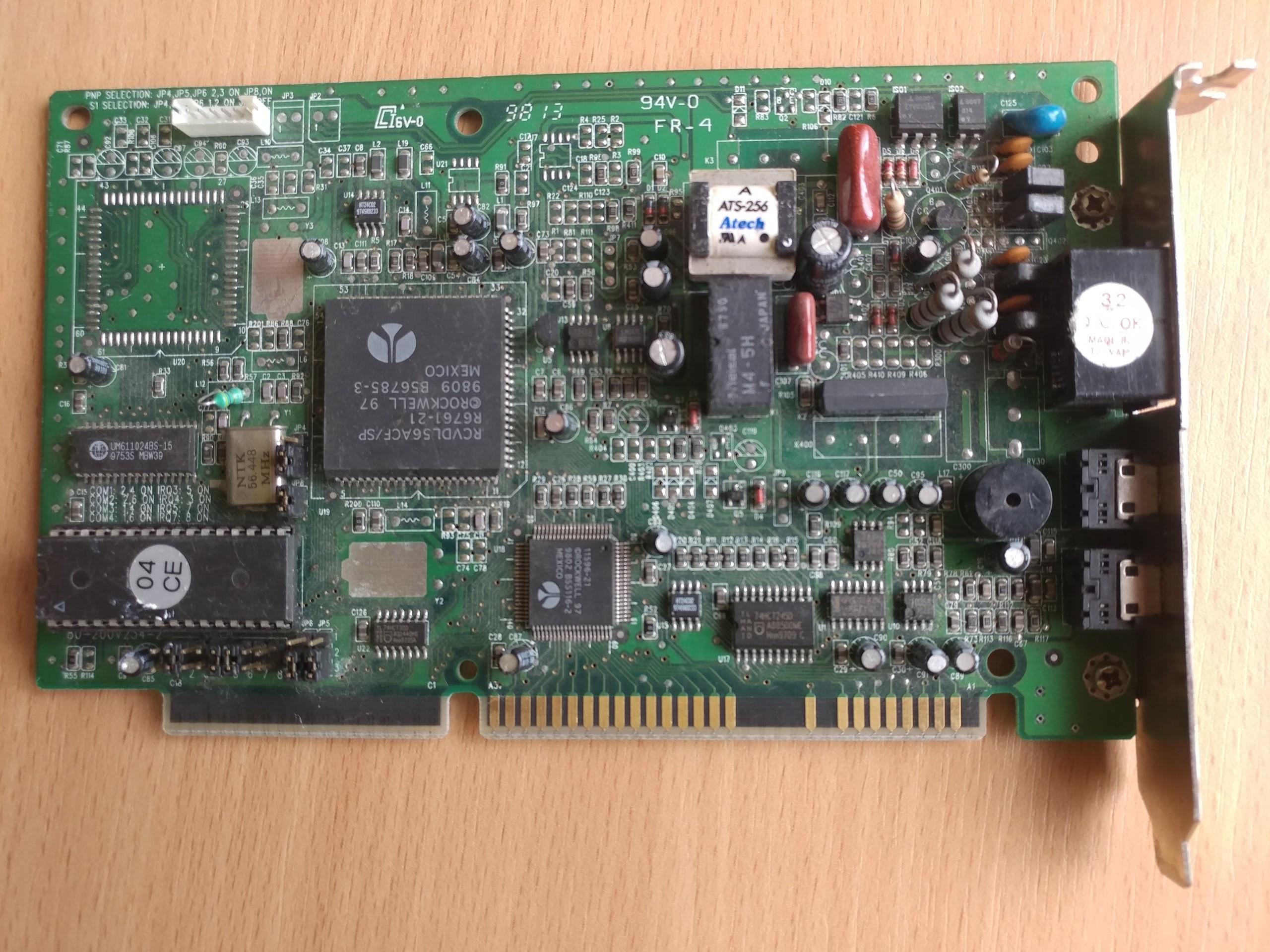 Modem Rockwell RCVDL56ACF/SP ISA