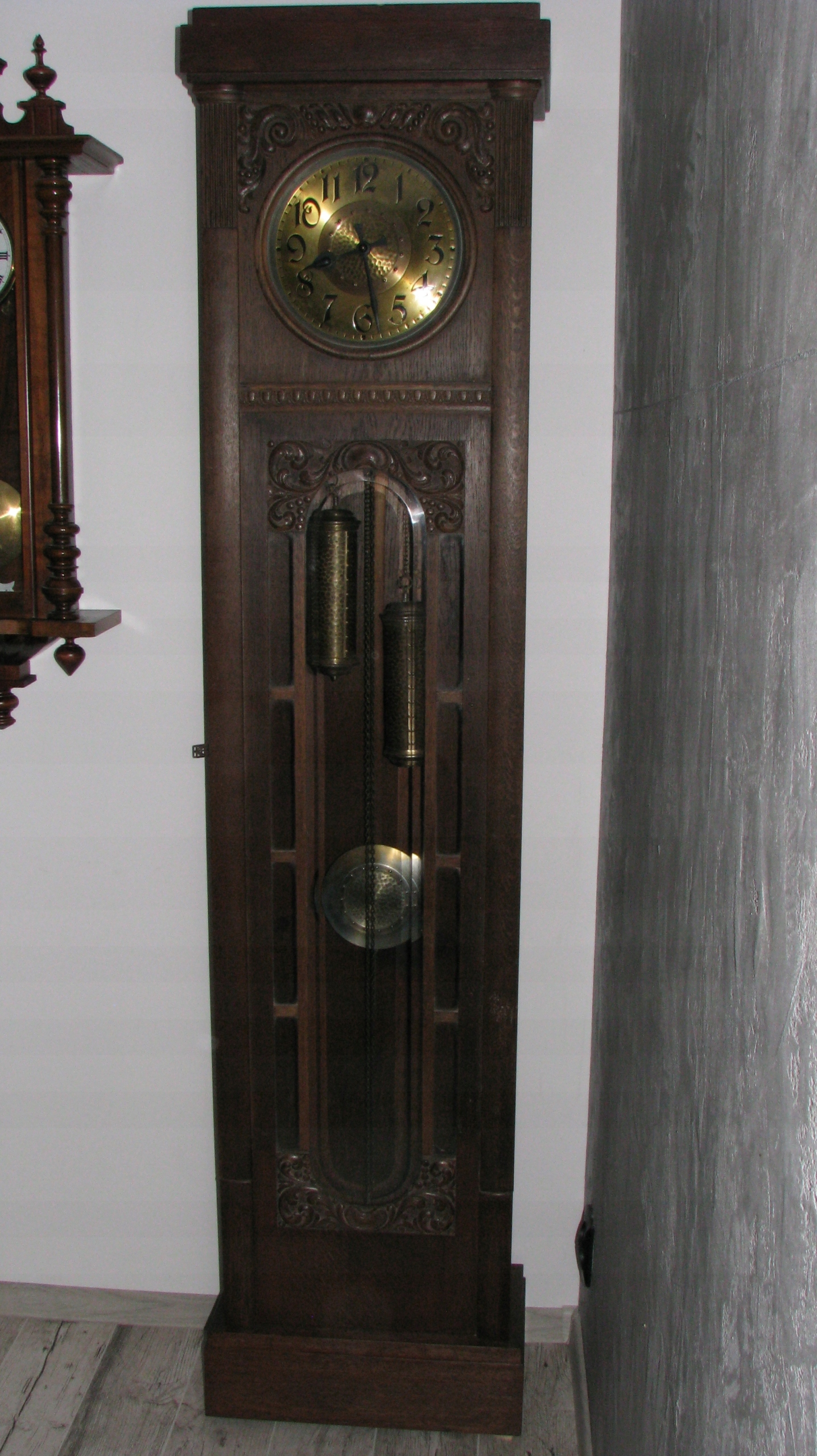 Zegar Stojący Piękny Gustaw Becker Dębowy P112