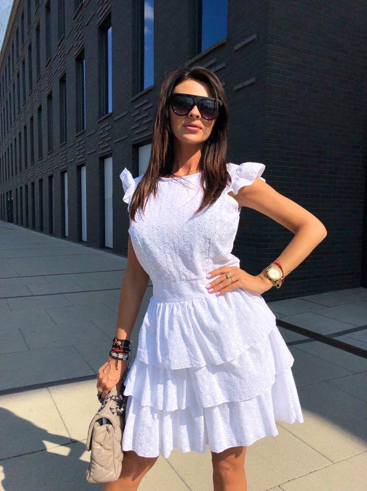 10f4fe9bb0 Sukienka Falbany Wesele NOWOŚĆ PROMOCJA!!!!!!!!!!!