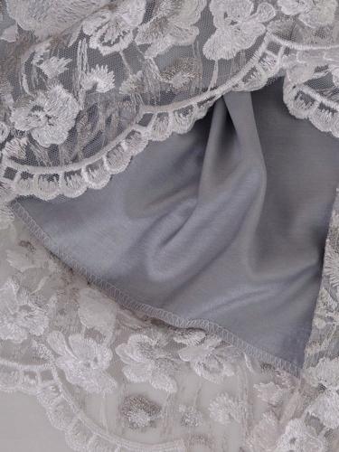 2e9307f29e64fe Koronkowa sukienka z szyfonowym szalem 36-56 - 7580495529 ...