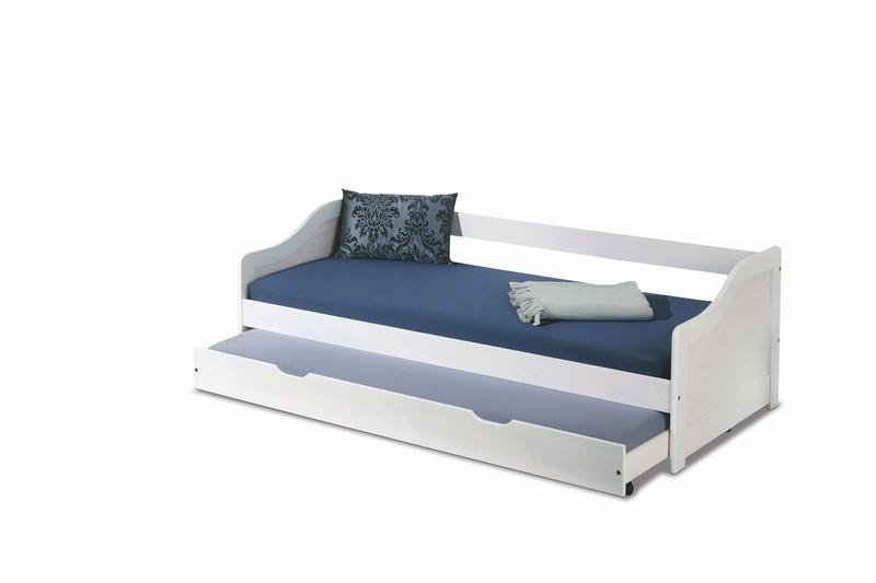 Młodzieżowe Białe łóżko Rozkładane Leonie 2 7222019122