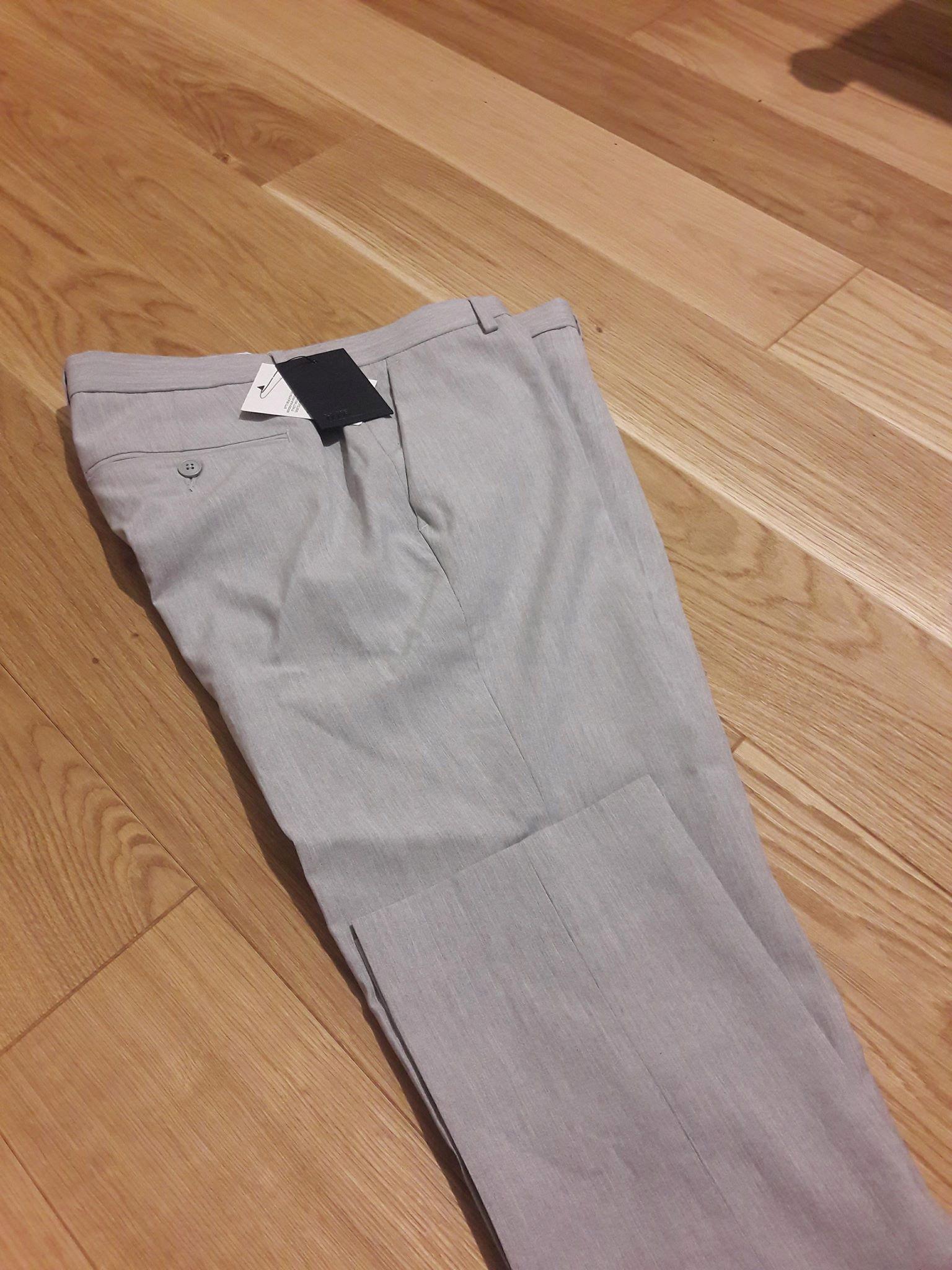 ASOS szare spodnie męskie eleganckie slim W34 L34