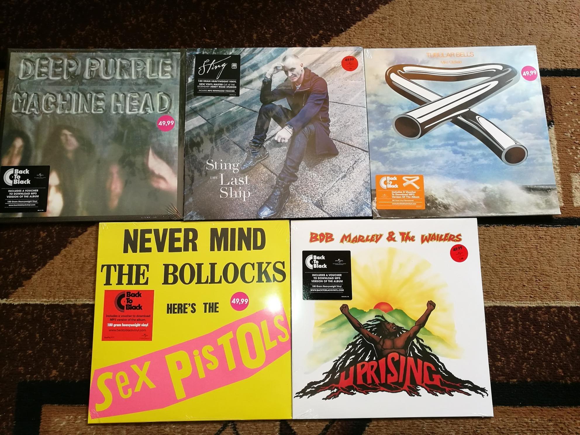 Purple, Sting, Marley, Sex Pistols, Oldfield