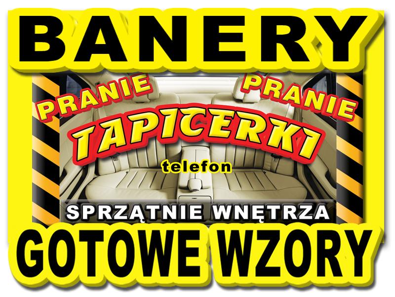 3x Baner Pranie Tapicerki Sprzątanie Banery Szyld 5551220516