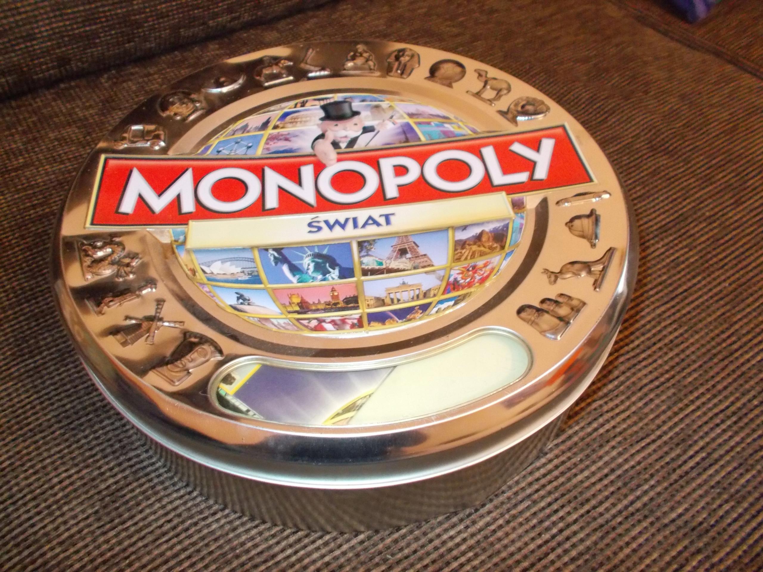 Monopoly świat z płatnościami kartą