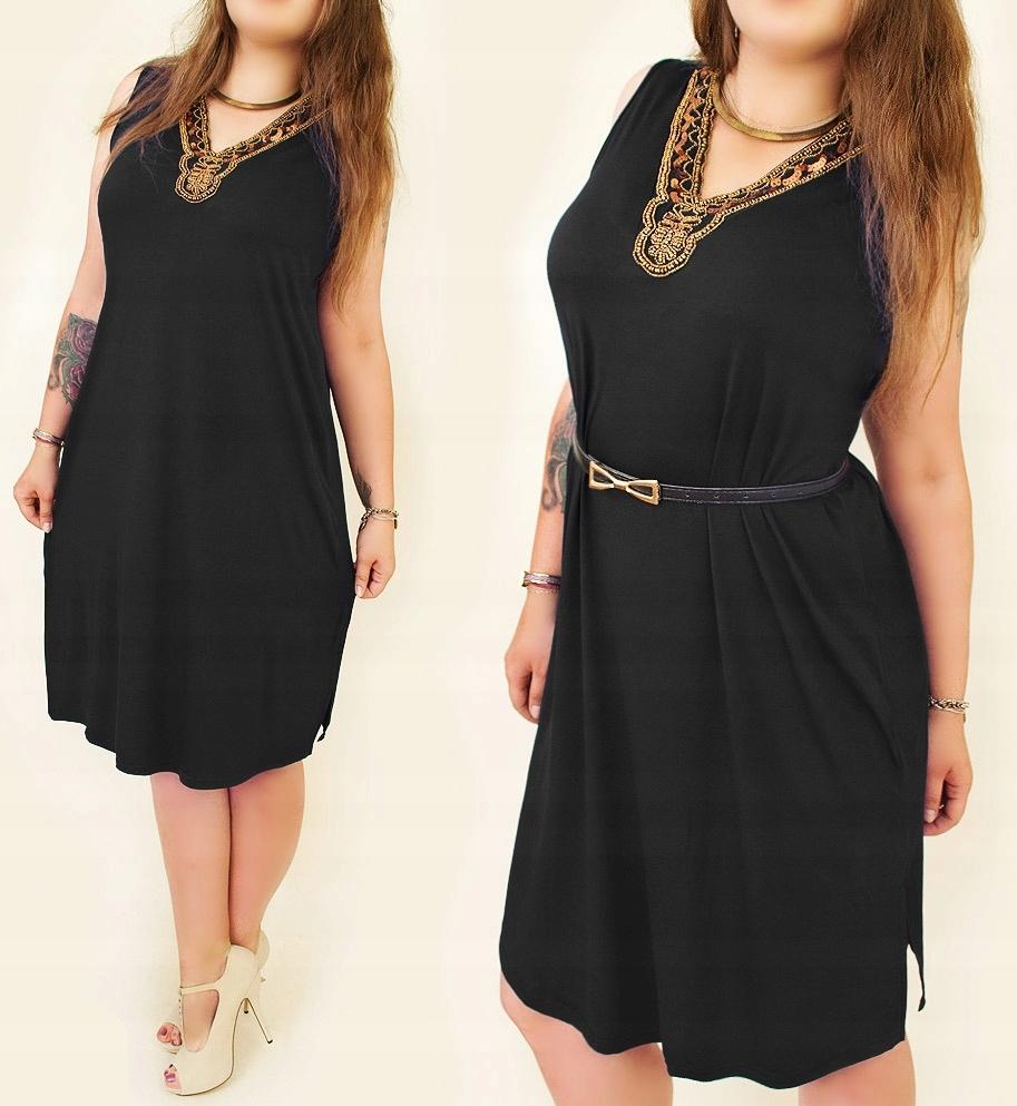 6d3ce8ae70 Elegancka Sukienka Plus Size Cekiny A1940 XL CA - 7491314554 ...