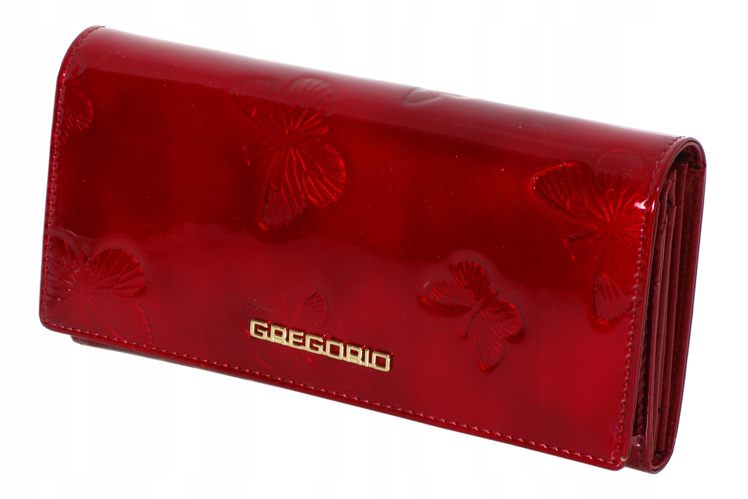 3e120700f2fe2 Skórzany portfel damski GREGORIO BT100 czerwony - 7558608181 ...