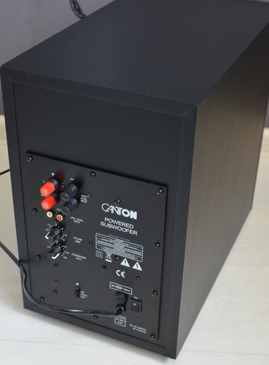 Aktywny subwoofer CANTON M230 czarny - 7338600390