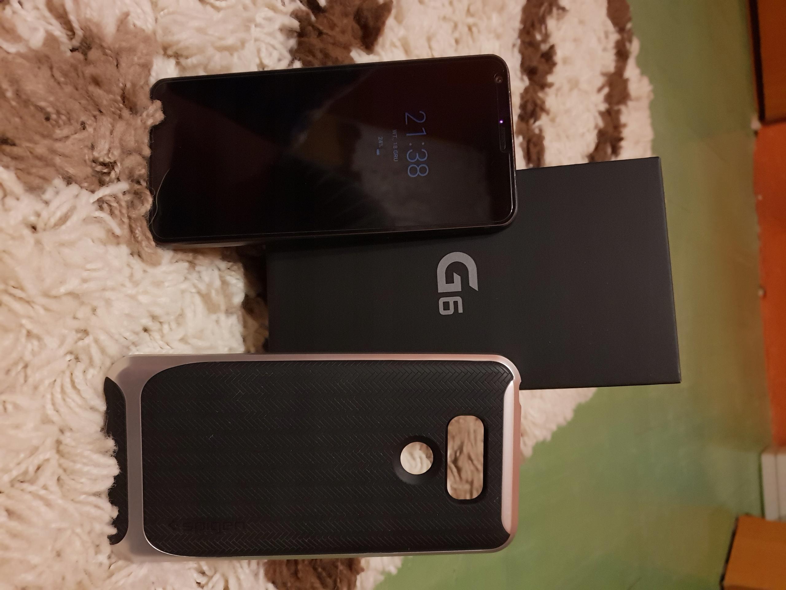 LG G6 - Stan bardzo dobry-Komplet-Gwarancja
