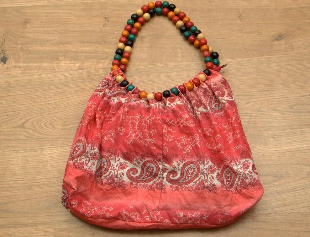 57f57878489da torba torebka etno boho rózowa korale rasta - 7632312467 - oficjalne ...