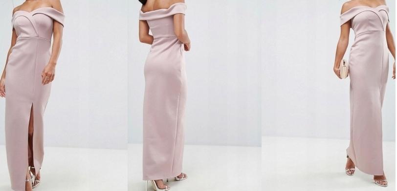 c8ea11805c09c Piękna, długa sukienka, odkryte ramiona ASOS - 7512117697 ...