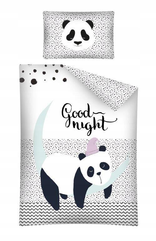Pościel Do łóżeczka 100x135 Czarno Biała Miś Panda 7518921050