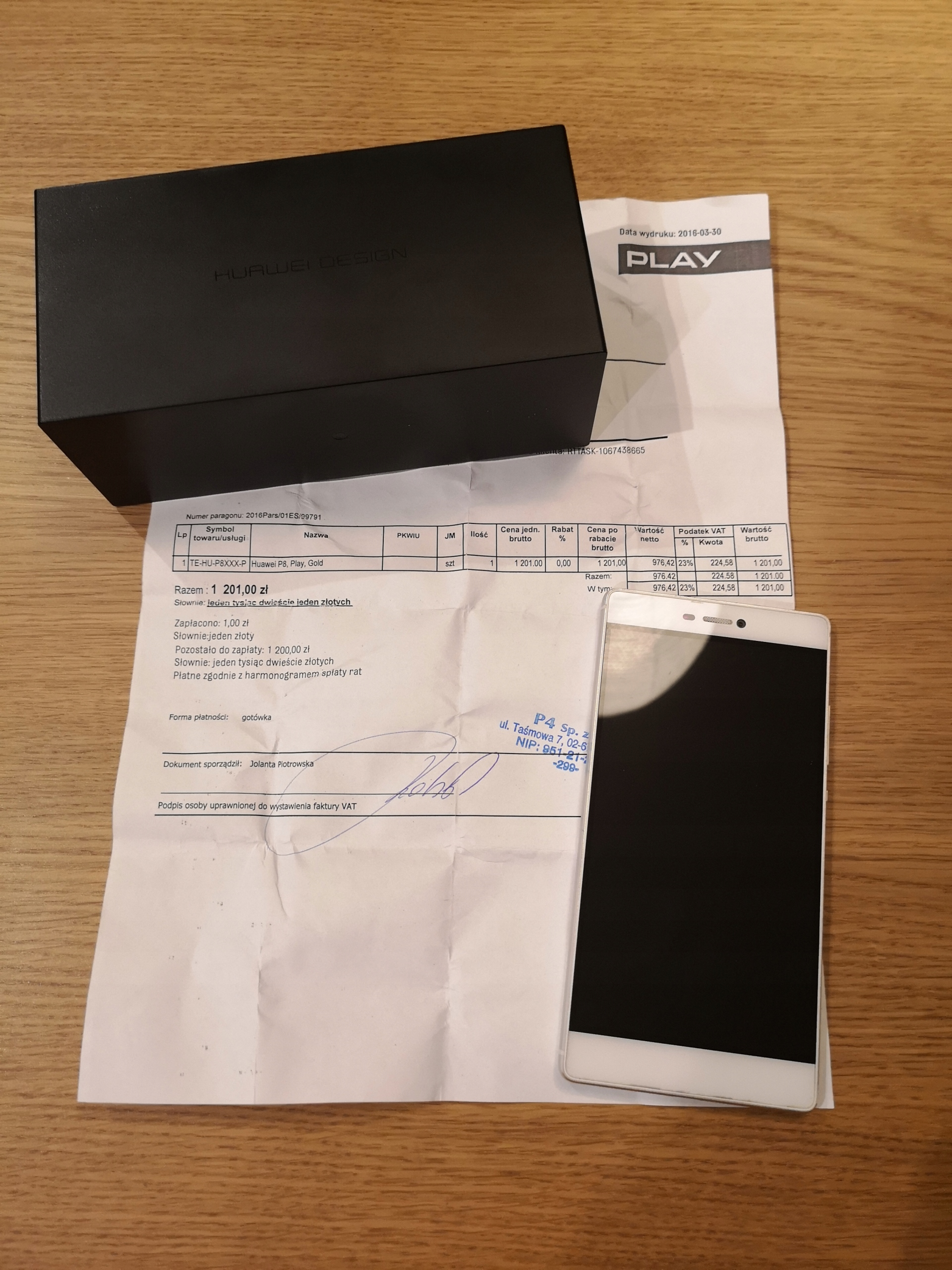 Huawei p8 GRA-L09 biały, gwarancja