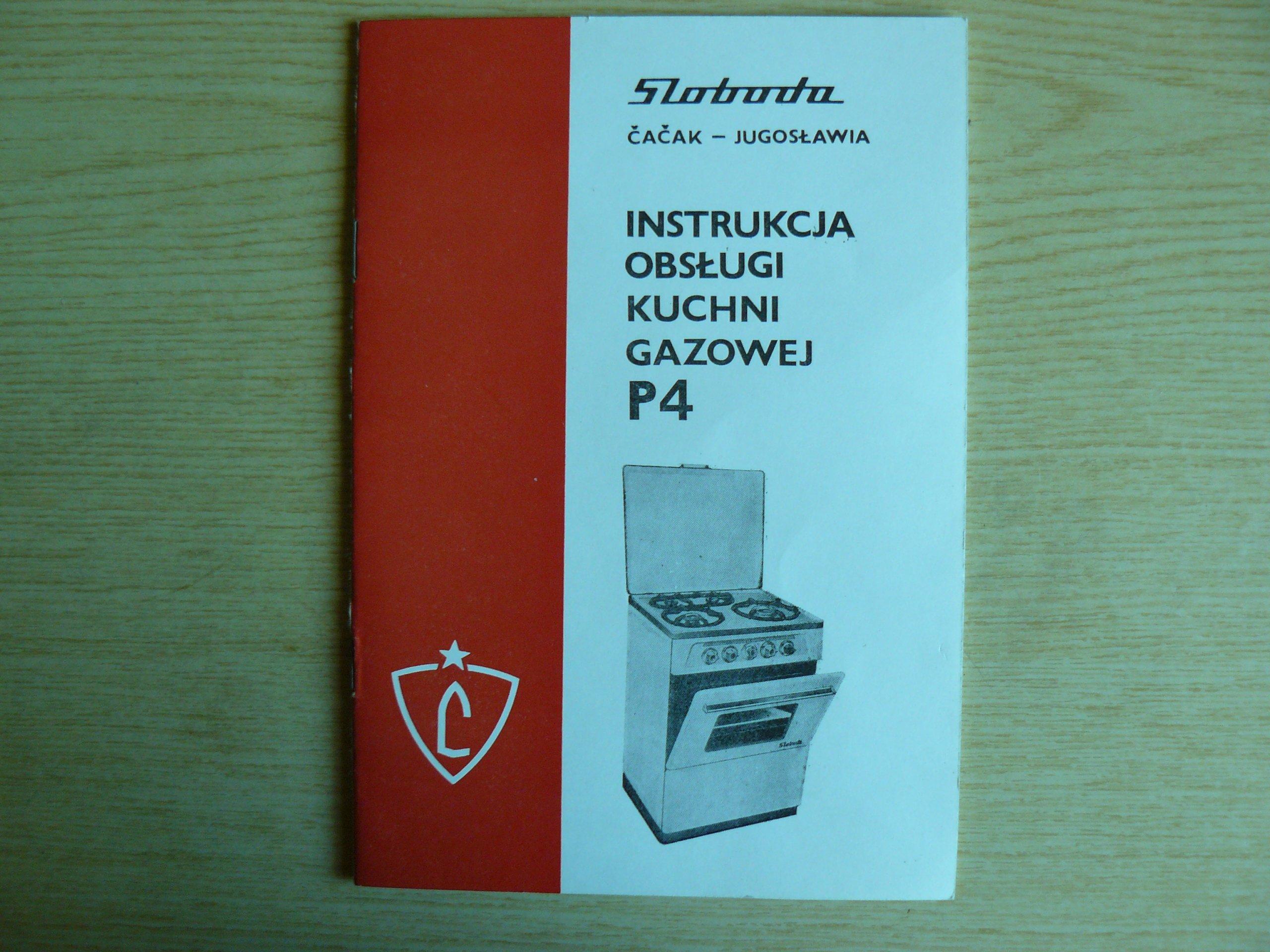 Instrukcja Obsługi Kuchni Gazowej P4