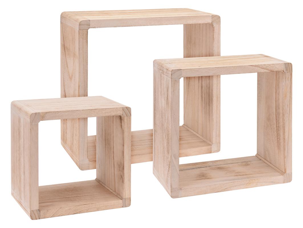 Półki Drewniane Na Książki Pamiątki Ozdobne 3 Szt