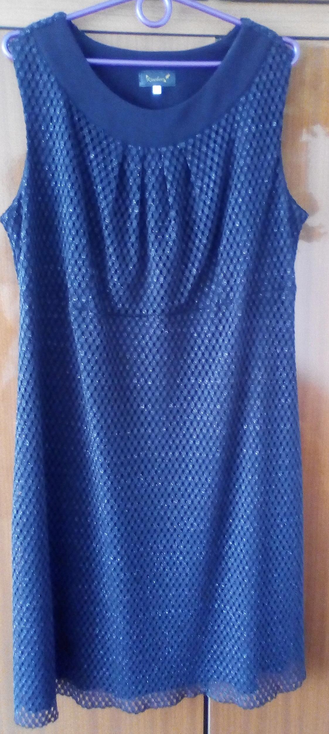 047d8ffdda Sukienka r. 48 siateczka koronka DUŻY ROZMIAR! 4XL - 7439499158 ...