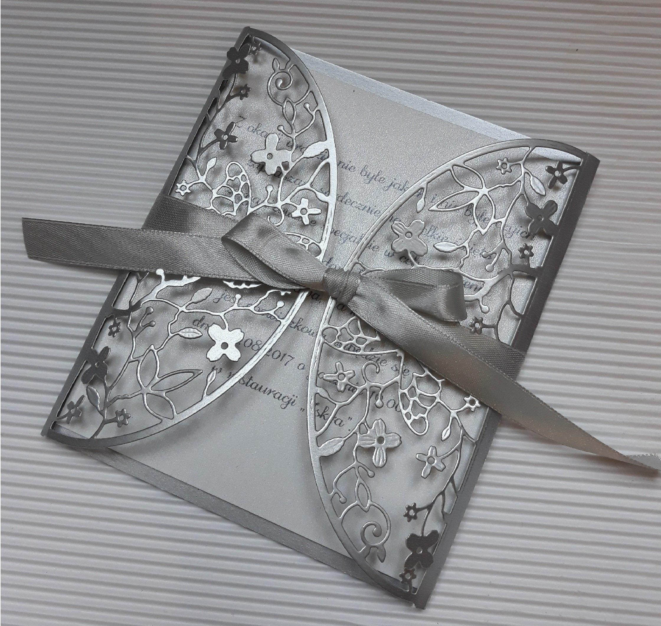 Zaproszenia ślubne Ażurowe Ręcznie Robione 7149193867 Oficjalne
