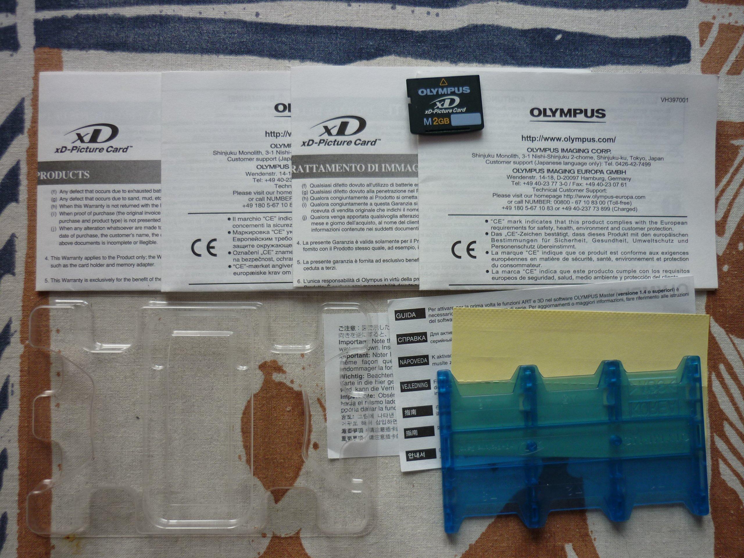 Karta Pamieci Olympus Xd 2 Gb M Z Portem Na 6 Kart 7215878465