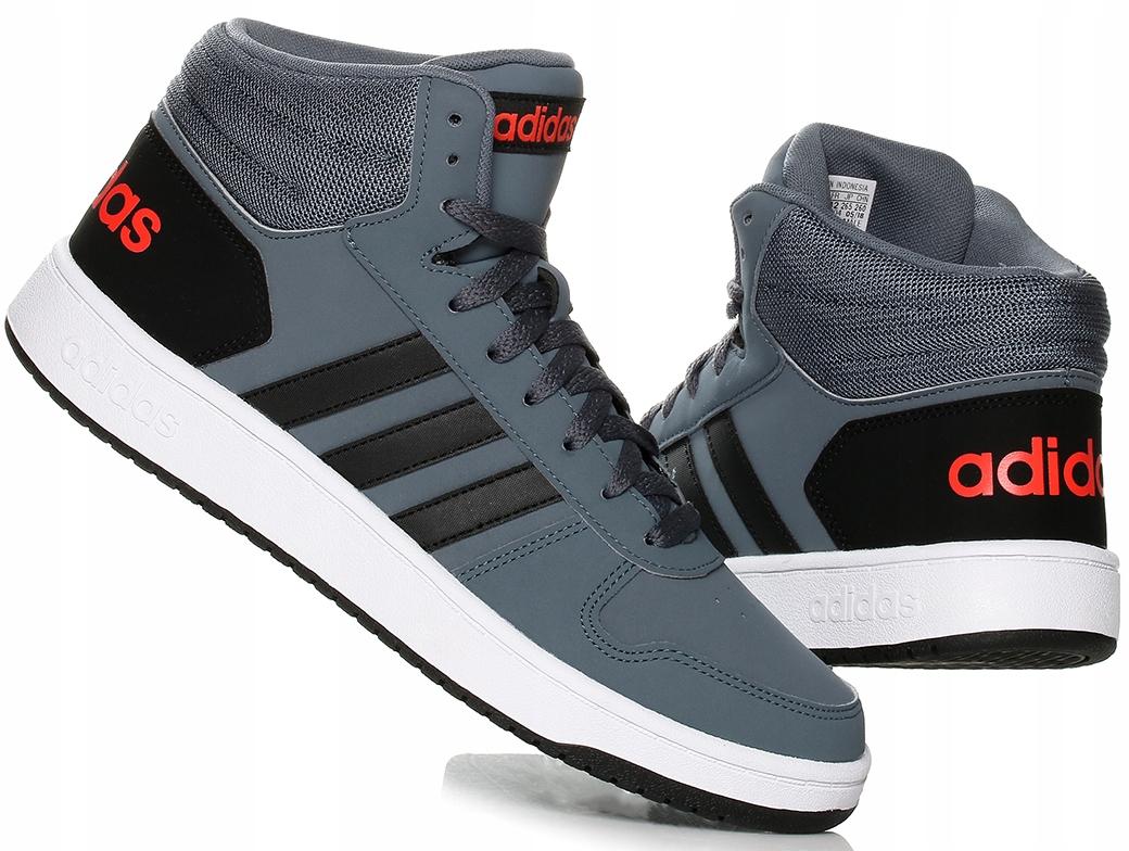 obuwie renomowana strona buty do biegania Buty męskie Adidas Hoops 2.0 MID B44670 - 7682309162 ...