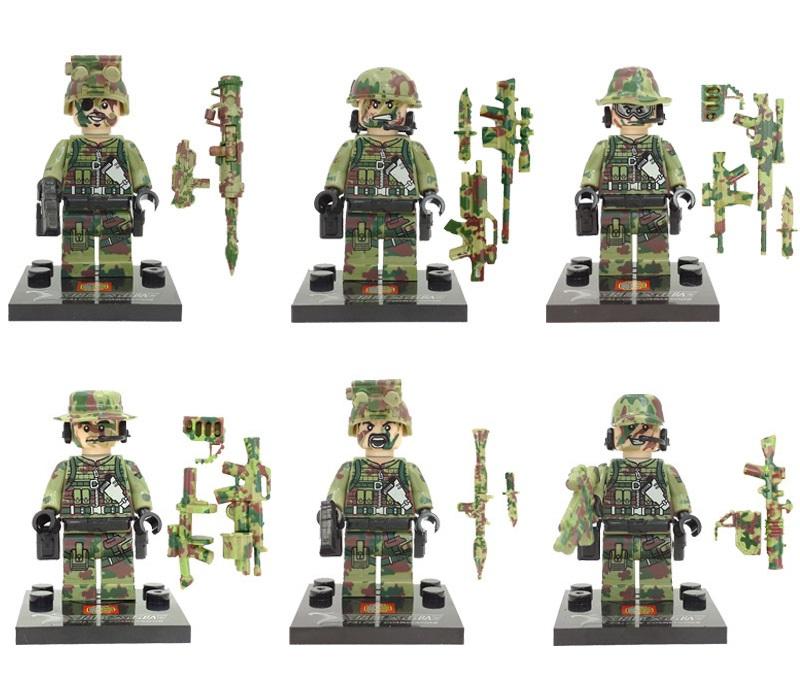Figurki żołnierze Wojsko Kompa Z Lego 6sztakceso 7047759209