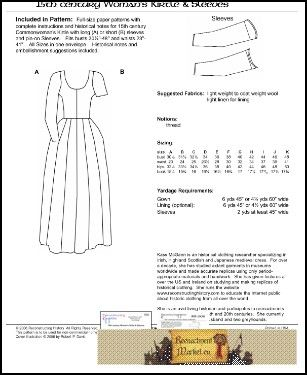 The Pattern Woman's Kirtle in the 15th century - 7113970755