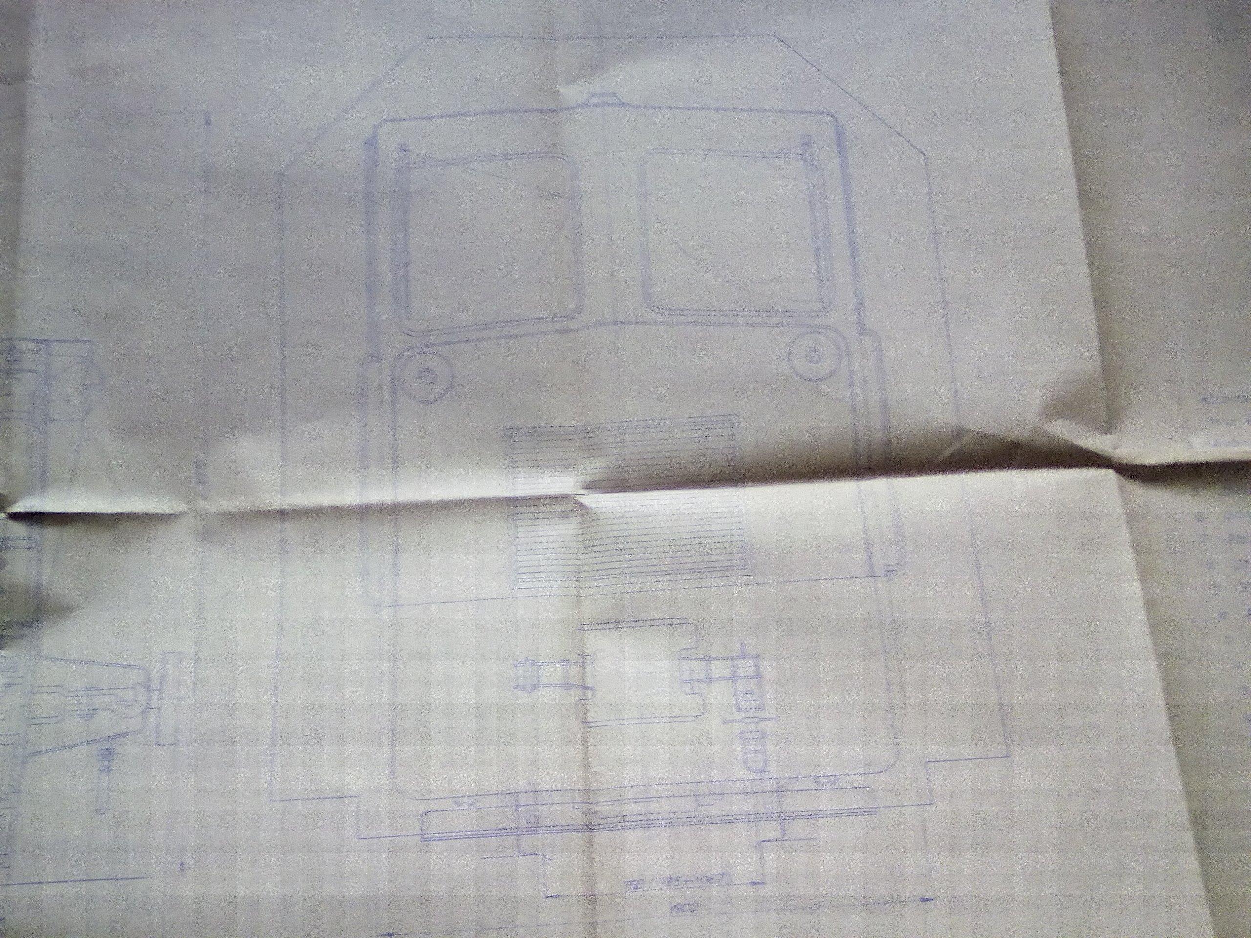 Duży plan-Lokomotywa wąskotorowa 805D