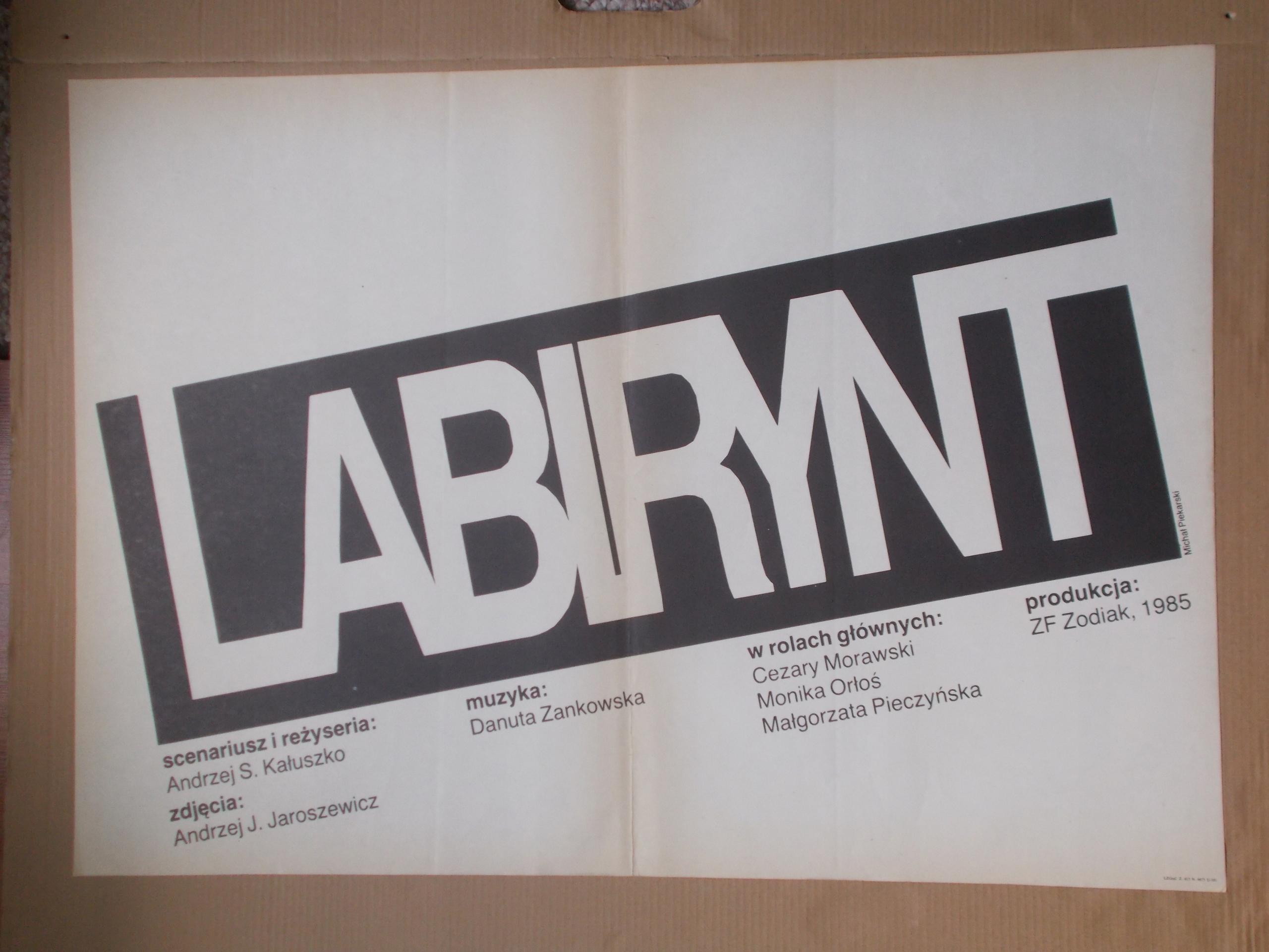 Plakat Filmowy Labirynt