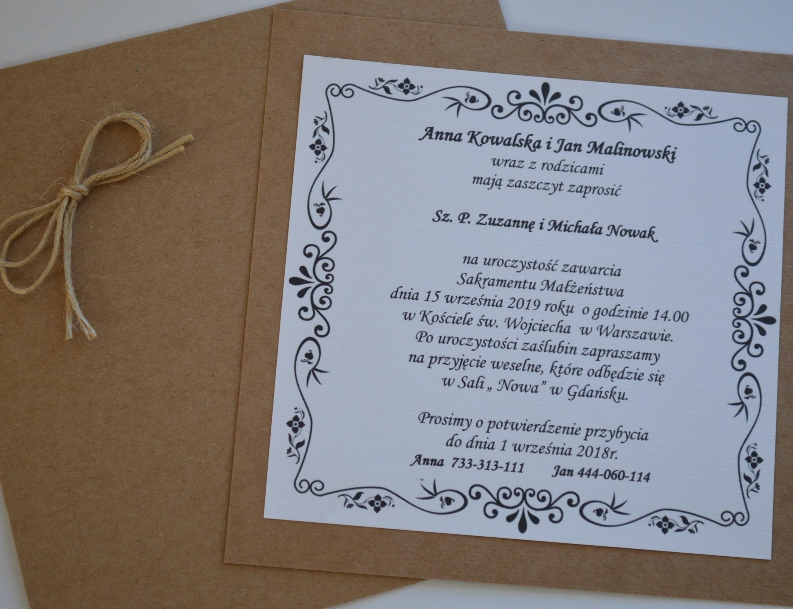 Zaproszenia Na ślub 7435423184 Oficjalne Archiwum Allegro