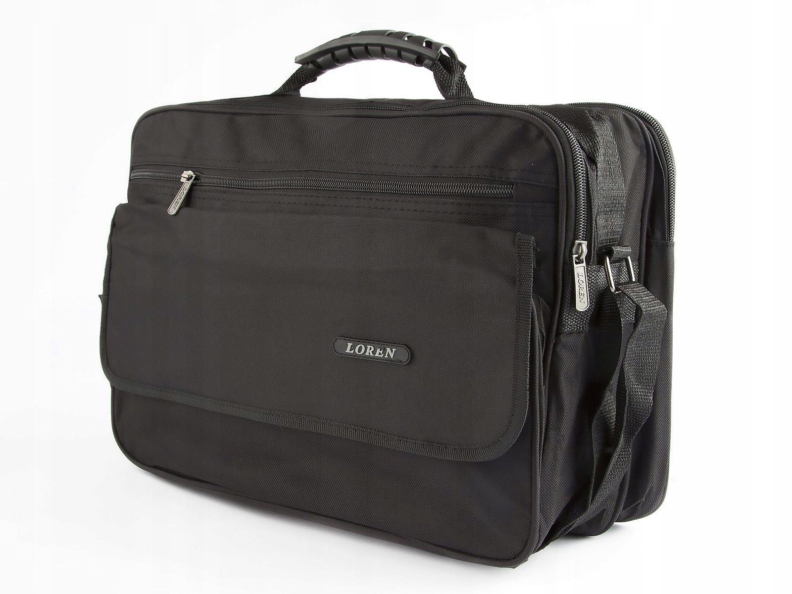 87d39f3f8051a Loren torba męska do pracy szkoły B5 na ramię A29 - 7587965430 ...