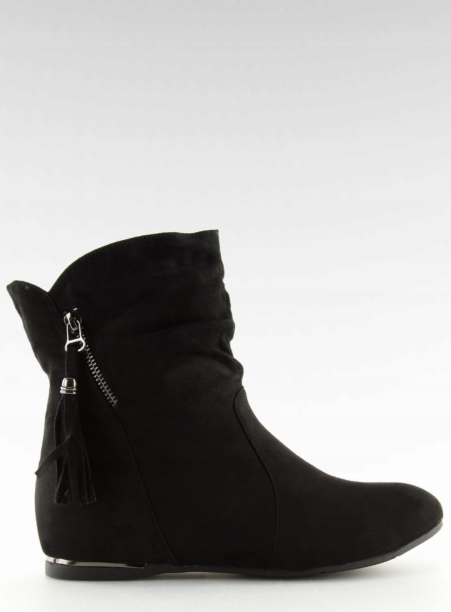 58a9513c146bf Botki damskie saszki czarne VQ-362 jakość 37 - 7660230343 ...