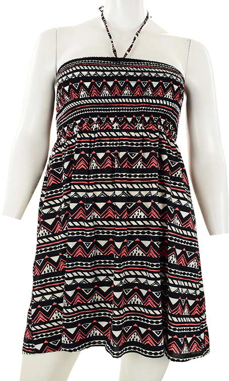 c7e2264f lR8508 sukienka mini w modny wzór 48 - 7672106588 - oficjalne ...