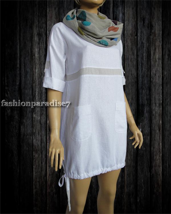 7d742651a1 PATA  Sukienka Lniana  100% Len  S M - 7431633651 - oficjalne ...