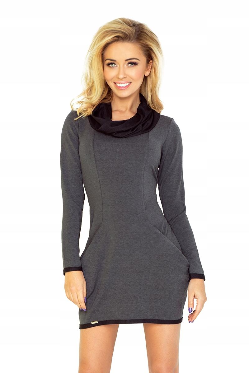 bc4f694ab0 Golf - sukienka z dużymi kieszeniami - GRAFIT XXL - 7421878473 ...