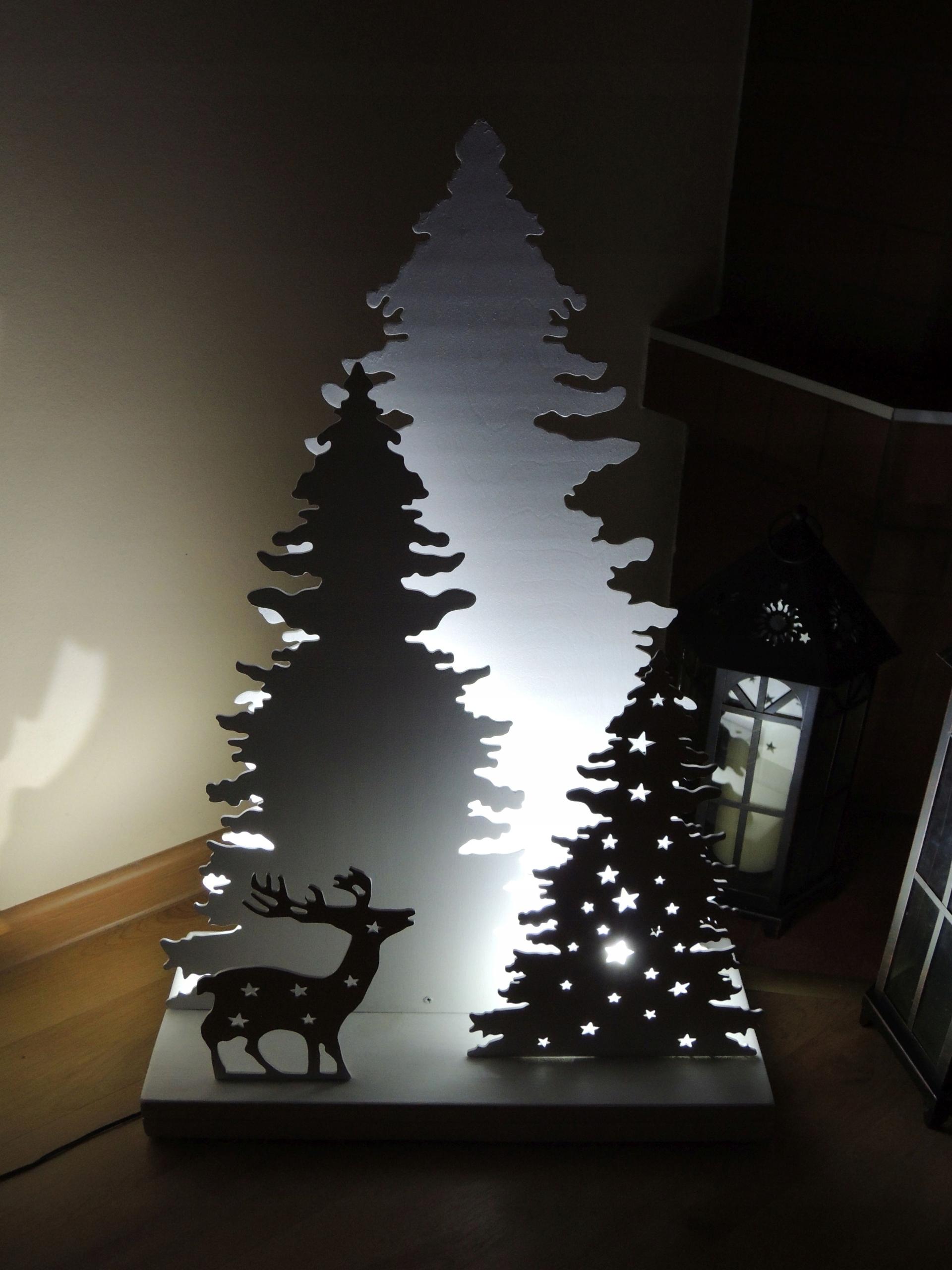 Dekoracja świąteczna świetlna Led Choinka Renifer