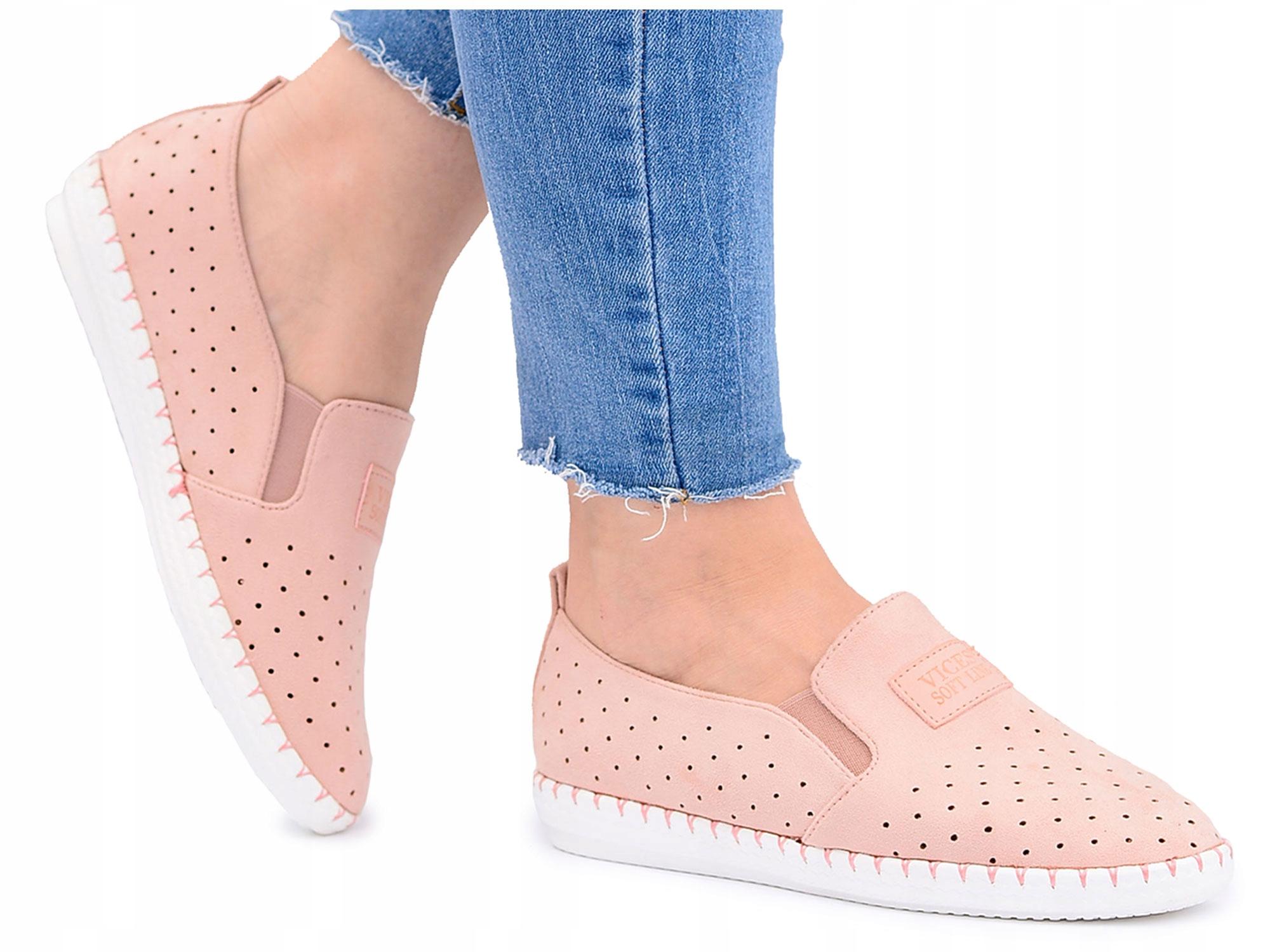 Kupić.pl Allegro Różowe creepersy, buty damskie Vices