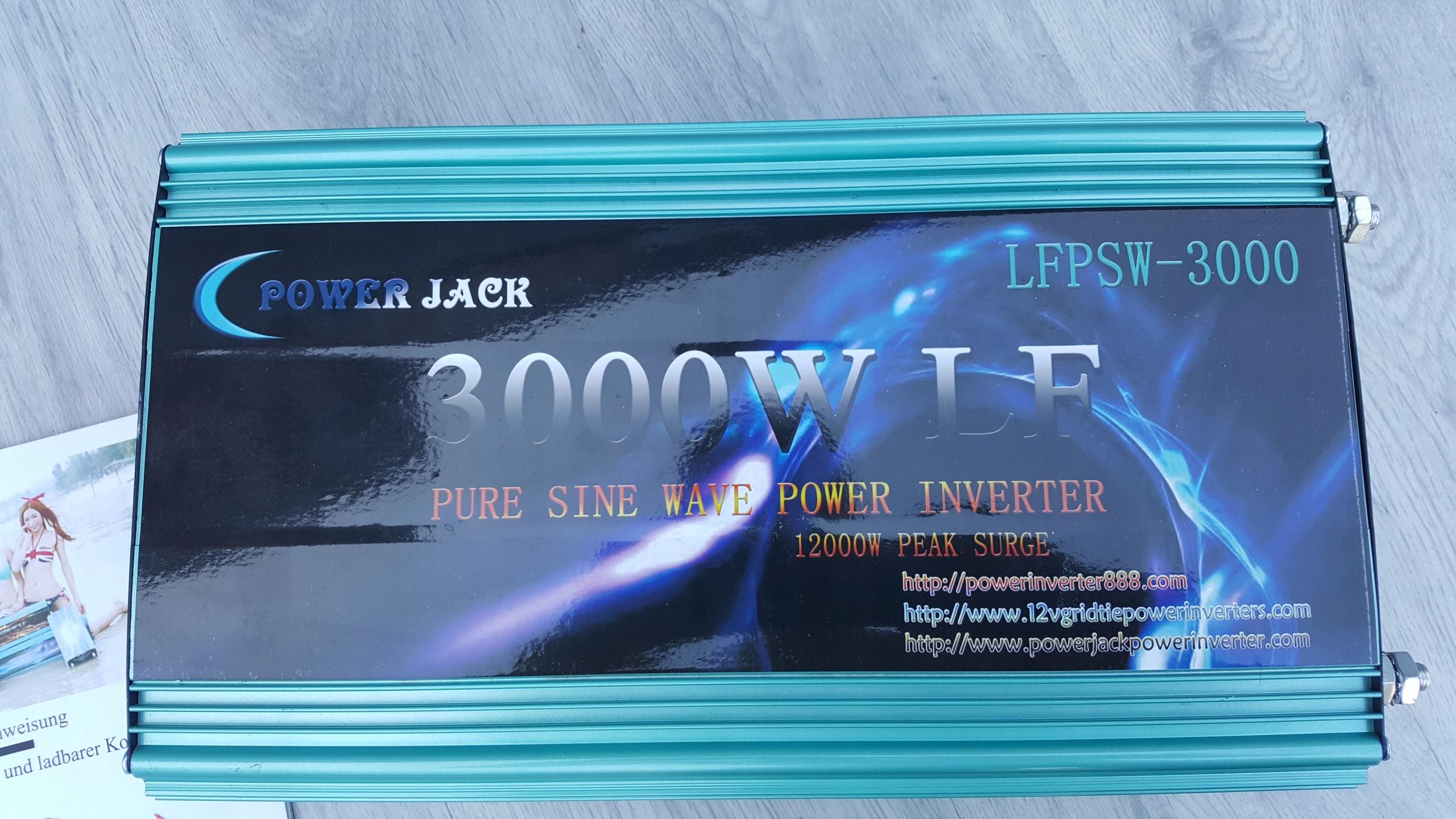 Przetwornica 3000W POWER JACK LFPSW-3000 12V FV - 7461721657